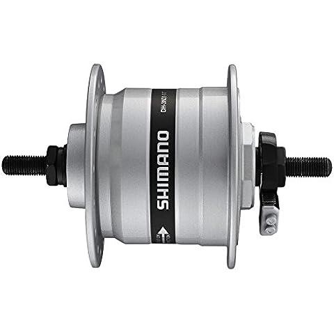 VR de dinamo de buje Shimano dh3N31dsg 100mm, 36agujeros, plata, completo eje 2091610600