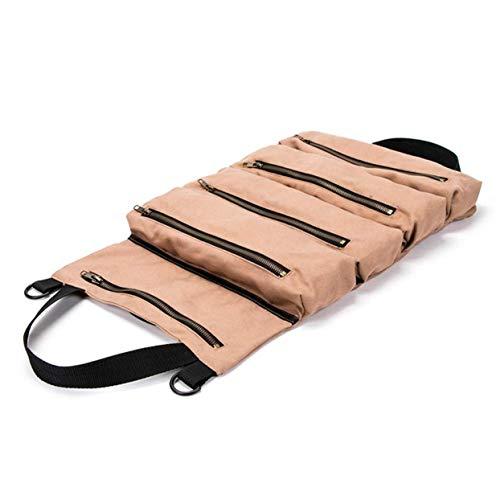 ool Roll großer Schraubenschlüssel großes Werkzeug Roll Up Bag Canvas Tool Organizer Eimer Beutel handliche kleine Werkzeuge ()