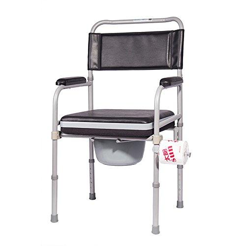 Comodino comò acciaio Commode pieghevole sedile del water regolabile in