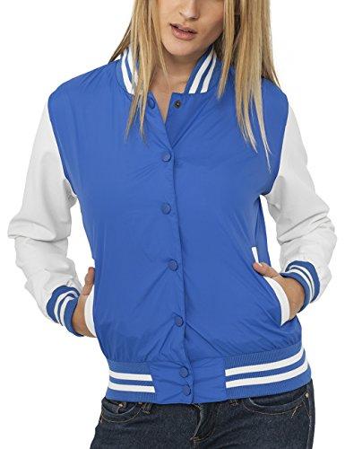 Urban Classics Ladies Light College Jacket, Blouson Femme Violet - Violett (roy/wht 204)