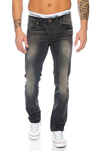 Rock Creek Herren Jeans Dunkelgrau RC-2101 [W38 L34]