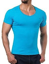Young and Rich - T shirt homme fashion T shirt 874 bleu turquoise - Bleu
