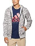adidas Herren Essentials AOP Full Zip Kapuzen-Jacke, Medium Grey Heather, 2XL