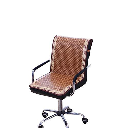 iBaste Bürostuhl Kissen Bambus Cooling Chair Abdeckung für Bürostuhl Plaid Staubdicht Stuhl Matten - Bambus-stuhl-abdeckung