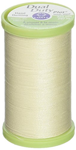 Coats: Thread & Zippers Manteaux Filetage et Fermetures à glissière Double Duty Plus Main Quilting Filetage, 297,2 m, crème
