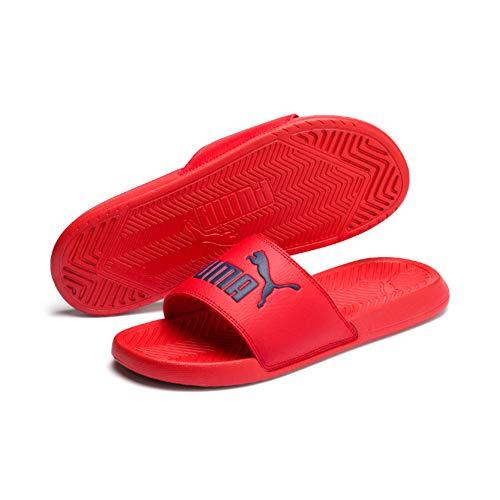 Puma Popcat, Zapatos de Playa y Piscina Unisex Adulto, Rojo High Risk Red-Peacoat, 43 EU