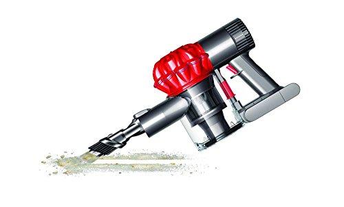 Dyson DC62 kabelloser Staubsauger (für alle Bodenarten, Elektrobürste mit Carbonfasern 21,1 cm, inkl. Zubehör) iron/rot -
