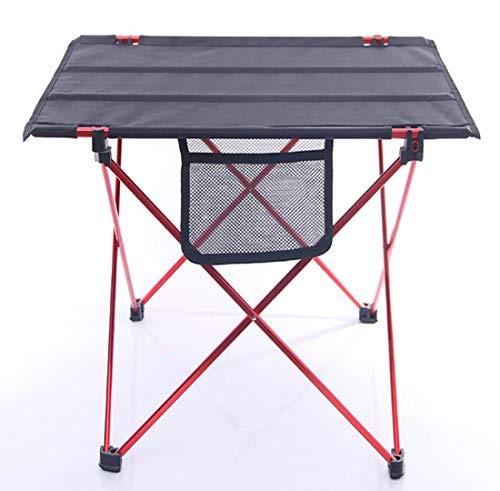 BOHENG Table Pliante, Tissu d'Oxford, Table Pliante de Loisirs en Plein air, Table à Manger en Aluminium d'espace portatif, parenthèse d'alliage d'aluminium, storagebag Rapide