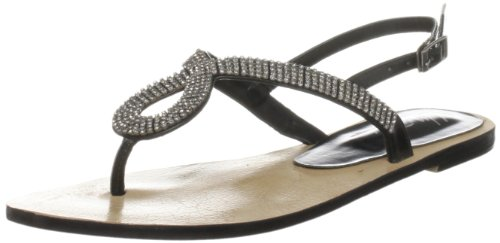 Unze Evening Slippers, Damen Slipper Schwarz (L18254W)