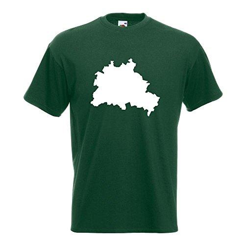 KIWISTAR - Berlin Deutschland Silhouette T-Shirt in 15 verschiedenen Farben - Herren Funshirt bedruckt Design Sprüche Spruch Motive Oberteil Baumwolle Print Größe S M L XL XXL Flaschengruen