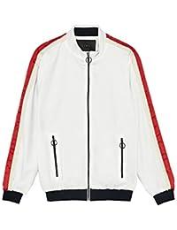 d9046b3d Zara Men's Bomber Jacket with Side Taping 0706/398 White