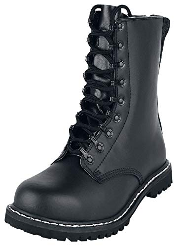 Brandit Springerstiefel para, Stivali da Combattimento para, Scarpe Militari, Esercito Tedesco, 44 EU