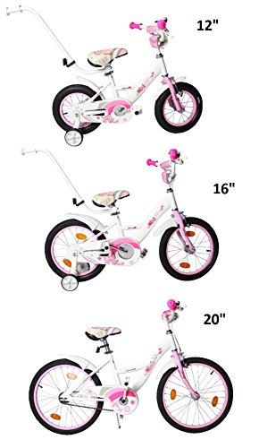 """Preisvergleich Produktbild Clamaro 'Butterfly 2017' Kinderfahrrad 20 Zoll Mädchen (ca. 6+ Jahre) inkl. Seitenständer und Rücktrittbremse gemäß DIN EN 14765:2005, Mädchenfahrrad 20"""" geeignet ab ca. 120 cm Körpergröße - Farbe: Butterfly Weiß/Rosa"""