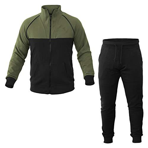 Diadora Spa FZ Cuff Suit Unbrushed FL Chándales, Hombre, Negro, L