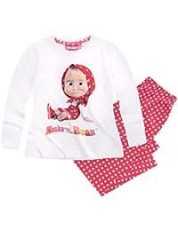 310cbfafba Masha und der Bär Kinder Mädchen Schlafanzug lang Pyjama 104-134  Nachtwäsche neu
