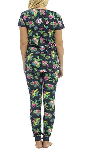 Ladies Choix de maillot de coton printemps été pyjamas Marine