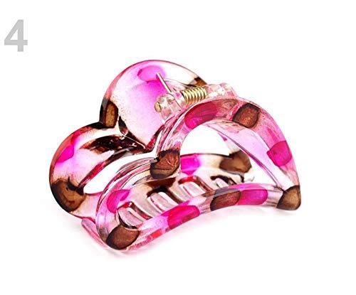 1pc 4 Fucsia Cabello Garra Corazón de 4x6.2 Cm, Uñas De Acrílico, Abrazaderas De Bebé, Accesorios De Las Mujeres, Las Garras, Los Mini Garras, Accesorios Para, Joyas