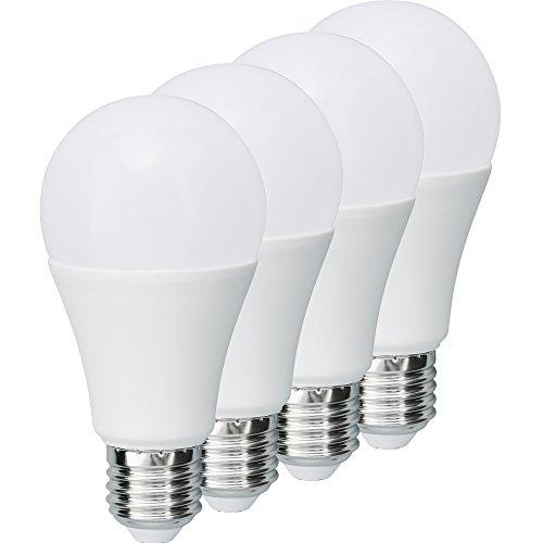 MÜLLER-LICHT 400004 A+, 4er-SET LED Lampe Birnenform ersetzt 75 W, Plastik, E27, weiß, 6 x 6 x 12 cm dimmbar [Energieklasse A+] - 13w Lichter