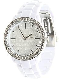 Miss Sixty R0753118501 - Reloj analógico de cuarzo para mujer con correa de piel, color blanco