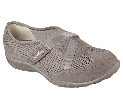 Skechers respirare facile Two Of A Kind Walking Shoe Marrone chiaro (tortora)