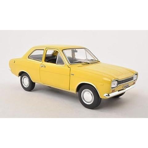 Ford Escort MKI 1300 GT, giallo , 1969, modello di automobile, modello prefabbricato, WhiteBox 1:24 Modello esclusivamente da
