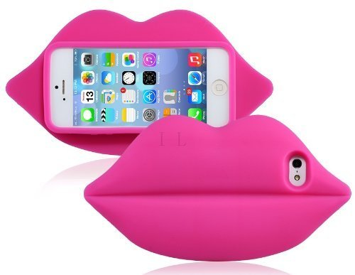 iPhone 4 Custodia, Hamyi iPhone 4S Cover Morbida Silicone Motivo Moda 3D Sexy Lips Labbra Protettiva Case per Apple iPhone 4/4S(Verde) Red Rose