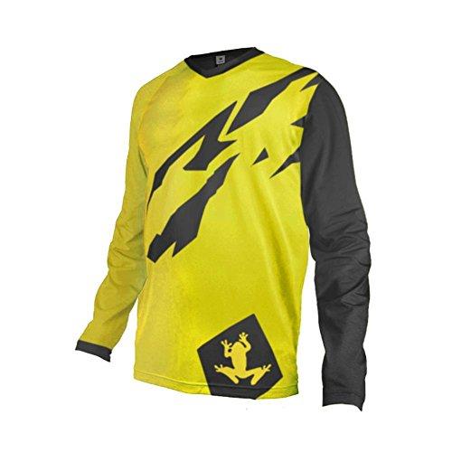 Uglyfrog Designs Erwachsener Motocross Jersey Cross Offroad Enduro Downhill/Funktionswäsche Shirt Atmungsaktiv Lange Ärmel Rundhalsausschnitt or V-Ausschnitt