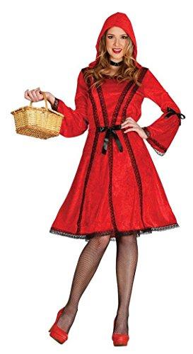 Kostüme Gothic Damen Rotkäppchen Erwachsene (KOSTÜM - ROTKÄPPCHEN - Größe 42-44)
