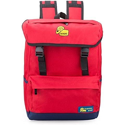 Adolescente Hombre Mujer Clasico Laptop Backpack Rucksack Mochila Escolar para Uso Diario /Escolar/Oficina/viajes/Calle/ Mochila de