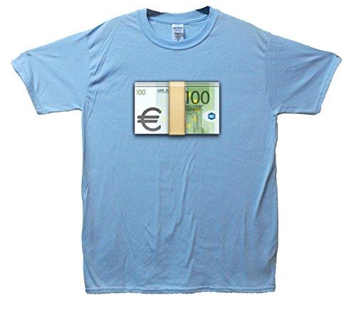 Euro's Emoji T-Shirt Hellblau