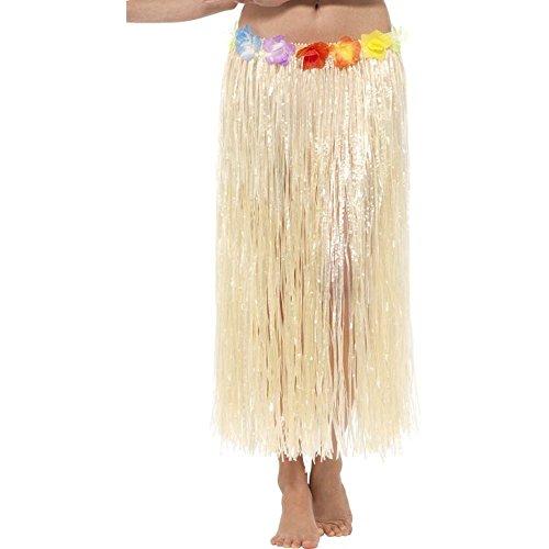 Karneval Natur Kostüm - Smiffys Damen Kostüm Zubehör Hawaii Bastrock Natur Karneval Fasching Party