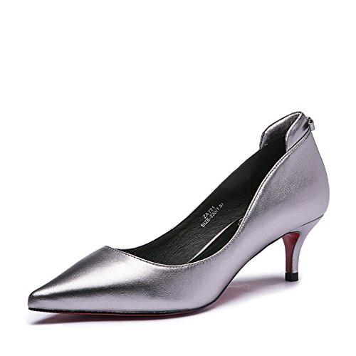 Lady tomber cuir clair mode/Avec des chaussures à talon/Chaussures Black Joker