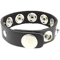 Erotic Fashion ra7402 Penisring mit Spikes, schwarz Leder Verstellbar, 1er-Pack (1 x 1 Stück)