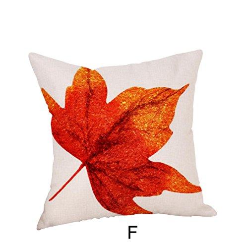 DOLDOA Herbst Baum Ahornblatt Kissenbezüge Leinen Sofa Kopfkissenbezug -