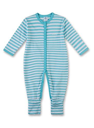 Sanetta Baby - Jungen 221294 Schlafstrampler,,per pack Türkis (caribian 50177),74 (74)