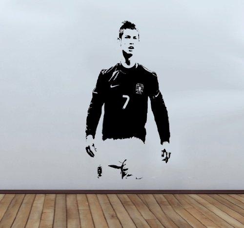 Christiano Ronaldo Wandtattoo, groß, 110x58cm