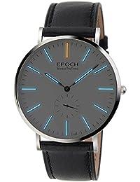 Epoch 6025G 50m Wasserdicht Tritium blau Luminous Ultrathin Case Schutzhülle Business Herren Quarzuhr Armbanduhr