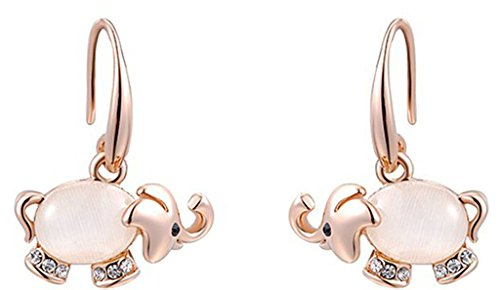 Anazoz Vergoldet Damen Stud Ohrring Rose Gold Austrian Crystal Elephants Ohrring Birthday 2X2.3CM