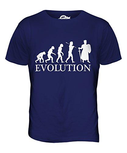 CandyMix Ritter Kreuzzug Evolution Des Menschen Herren T Shirt, Größe 2X-Large, Farbe Navy Blau