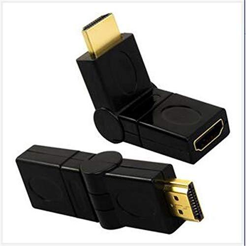 niceButy HDMI-Adapter (männlich auf HDMI-Buchse, um 90 - 360 Grad drehbar, Konverter für HDTV, DVD, Projektor, Monitor, Truc, praktisch, 2 Stück