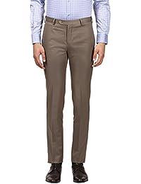 Raymond Beige Slim Blended Formal Trouser