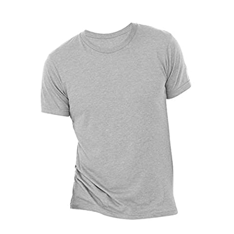Canvas Mens Triblend Crew Neck Plain Short Sleeve T-Shirt (M) (Athletic Grey Triblend)