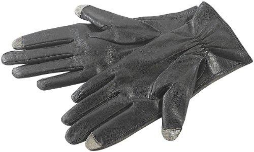 PEARL urban Lederhandschuh: Touchscreen-Handschuhe, Ziegenleder, f. Herren, Gr. 8 (M) (Touchscreen Handschuhe Leder Herren)
