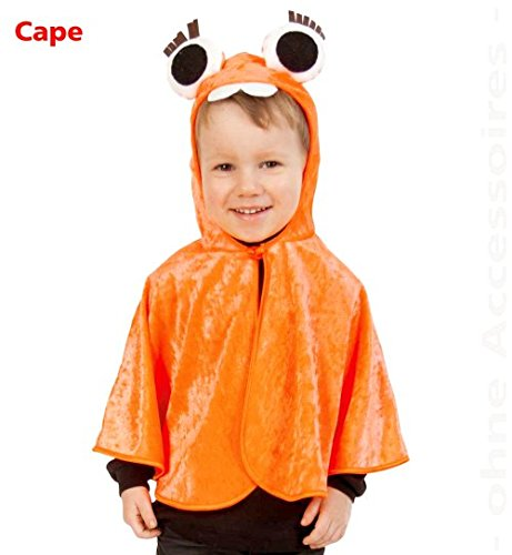 (Cape Monster Halloween orange mit Kapuze Kinder Baby Kostüm Fasching Pannesamt GR: 98)