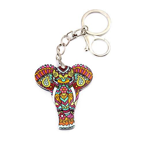 JUNGEN Llavero con Colgante Elefante Creativo Llavero para Decoración de Llaves Coche Bolsa Regalo para Mujer Niñas de Cumpleaños Navidad
