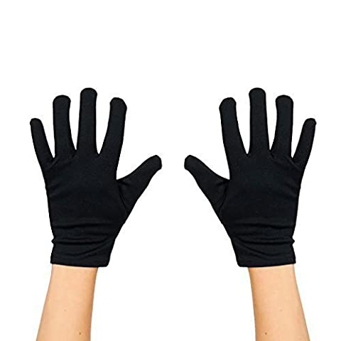 Kid's / Children's Plain Costume Gloves - Black
