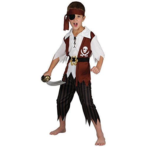 Cutthroat pirate children kids costume fancy dress up party
