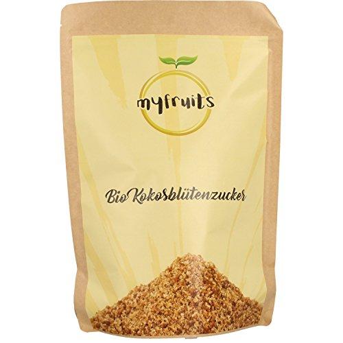 Kokos-nektar (myfruits goldener Bio Kokosblütenzucker XXL Nachfüllpack 1,8kg - feinkörnig. Natürliche Zuckeralternative. Abgefüllt in Deutschland)