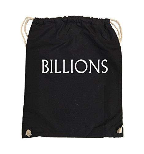 Borse Comiche - Miliardi - Logo - Turnbeutel - 37x46cm - Colore: Nero / Rosa Nero / Bianco