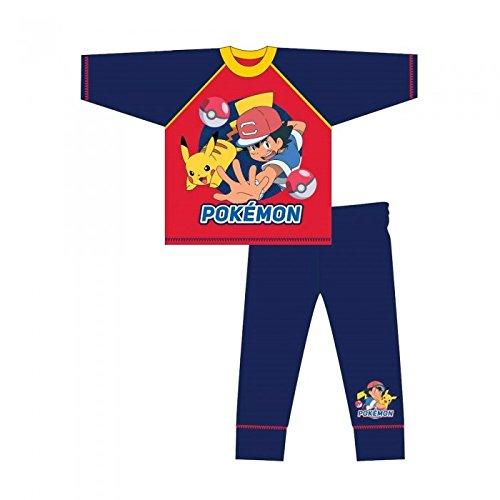 Pokmon-Pijama-infantil-de-manga-larga-con-ilustracin-de-Ash-y-Pikachu